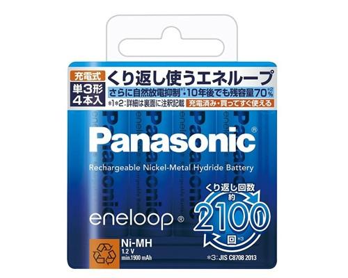パナソニック eneloop エネループ 単3形充電池 4...