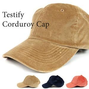 TESTIFY Corduroy Cap コーデュロイキャップ