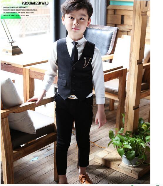 d22e92b4c744c 男の子スーツ 2点セット ベスト+パンツフォーマル 子供服 男の子スーツ キッズ 入学スーツ
