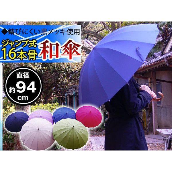 『送料無料』16本骨 ポンジー ジャンプ 和傘/カラ...