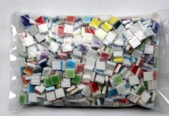 10.5ミリ角 ピュアカラー15色ミックス 580個
