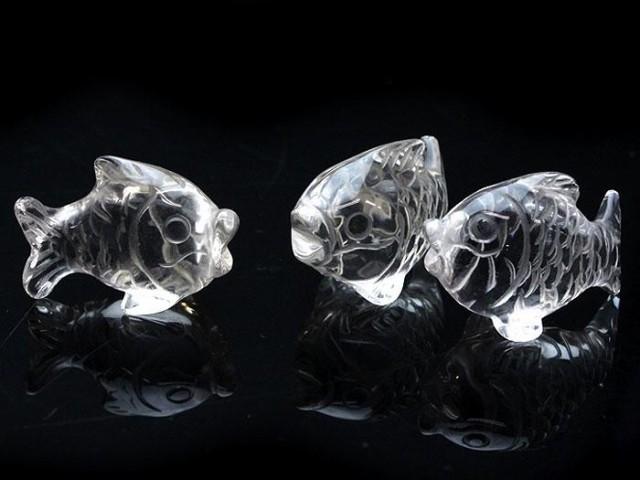 【数量限定アウトレット】開運彫刻 水晶 鯉3点...