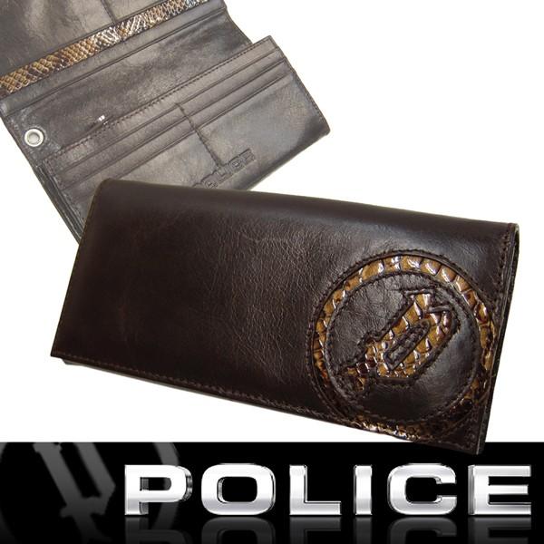 POLICE ポリス 二つ折り 長財布 イタリアンレザー...