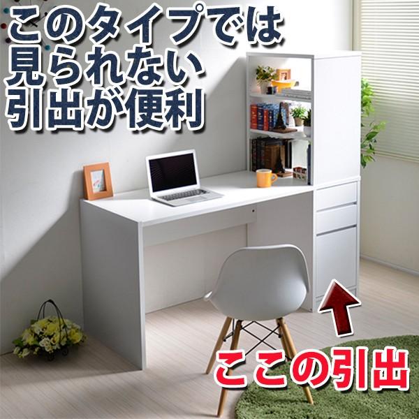 送料無料 パソコンデスク L字型 書棚付き pcデス...