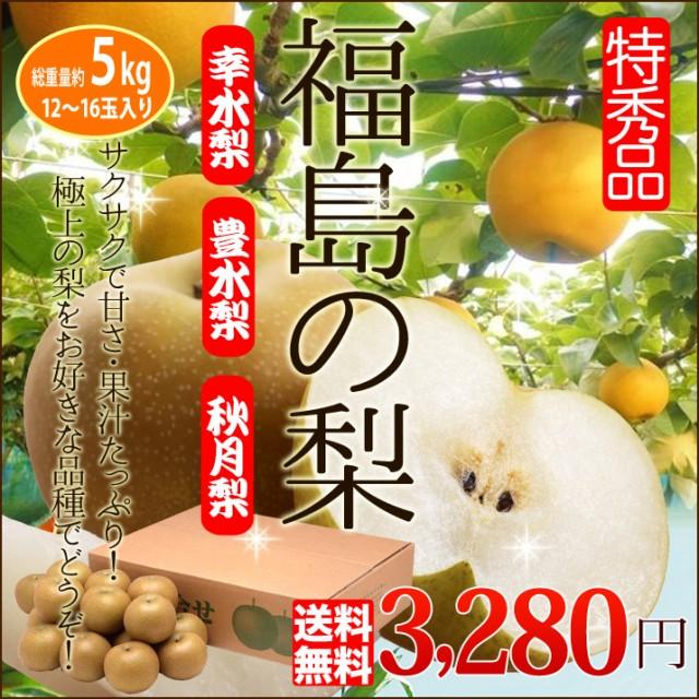 梨 ギフト 福島のなし 特秀ランク 5kg 送料無料 ...