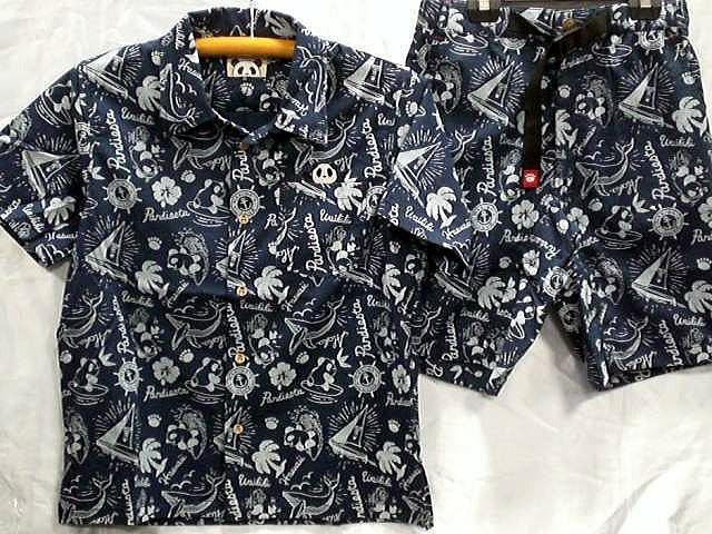 PANDIESTA JAPAN サーフパンダ総柄アロハシャツ...