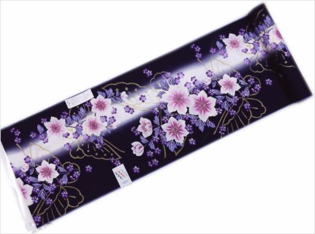 女性レディース浴衣ゆかた反物(未仕立て)濃紫色...