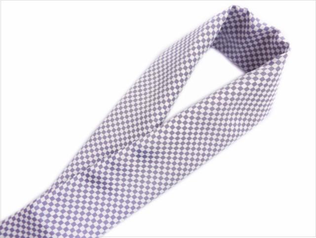 正絹和柄半衿半襟紫白市松 着物・振袖成人式&卒...