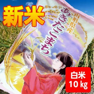 【送料無料】29年産山形県産あきたこまち白米10kg...
