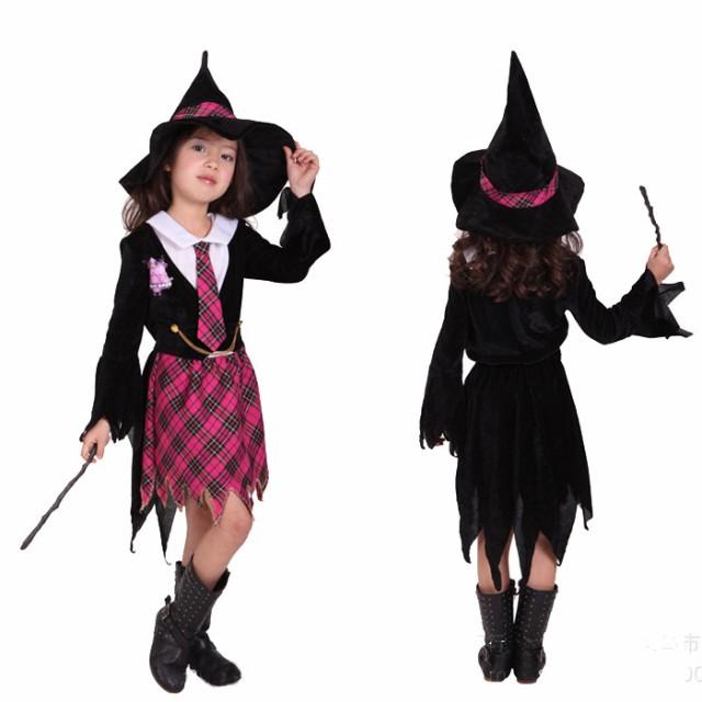 ハロウィン 衣装 子供 女の子 魔女 精霊 巫女 仮...