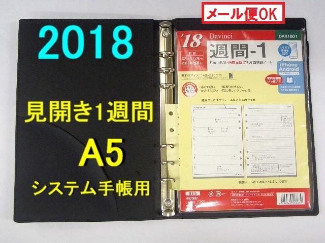 2018年 システム手帳 リフィル A5 ダヴィンチ「見...