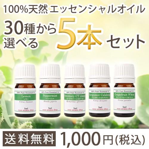 【送料無料】選べる5本セット♪【選べる精油30種...