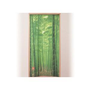 【竹林のれん】竹林の木蔭の涼しさが伝わってくる...