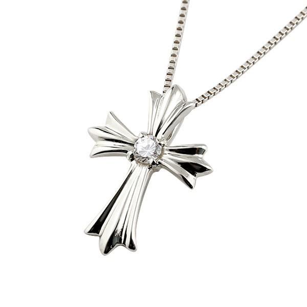 16715ac1022aed 【あす着】ネックレス メンズ ダイヤモンド ペンダントプラチナ900 ダイヤ ネックレス 十字架 クロス プラチナ チェーン 人気 送料無料 の通販はWowma!