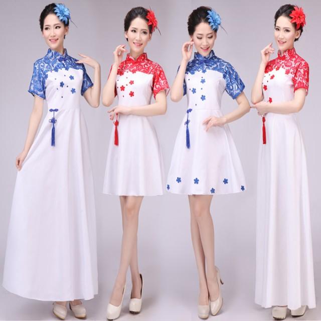 工場直販中国風ドレス刺繍唐装漢服チャイナドレス...