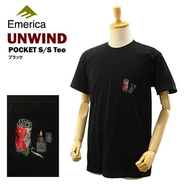 エメリカ アンワインド ポケット S/S Tシャツ ブ...