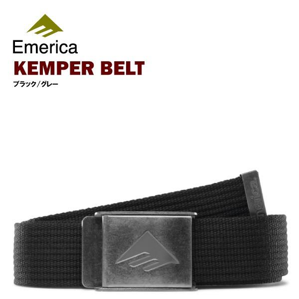 エメリカ ケンパー ベルト ブラック/グレー スケ...