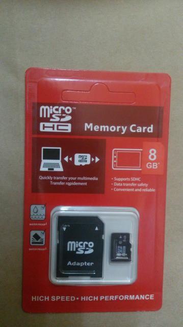 マイクロSDカード 8GB 変換アダプタ付き