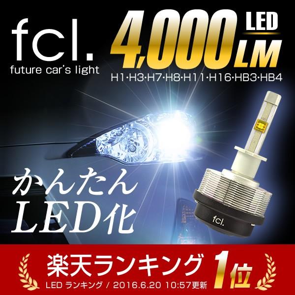 fcl LEDヘッドライト H11/H8/H16/HB4/HB3 ファン...