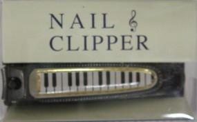 【メール便OK】ナカノ 爪切り 鍵盤柄ブラック...
