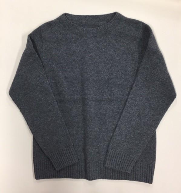 カシミヤブレンド 無縫製ボートネックセーター ...