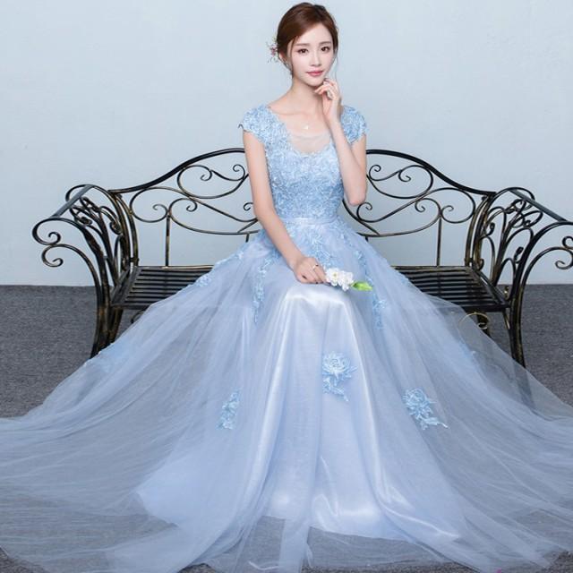 ウェディングドレスパーティードレス 花嫁ドレス...