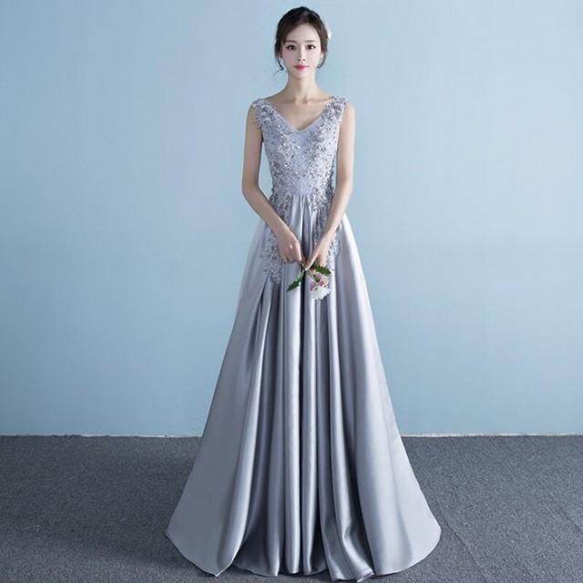 パーティードレス 結婚式 ドレス  ロングドレス ...