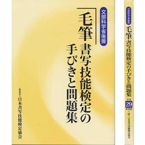 810282 平成29年度版 毛筆書写技能検定の手びき...