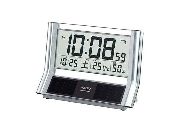 セイコー SEIKO ソーラー電波時計 置時計 SQ690S