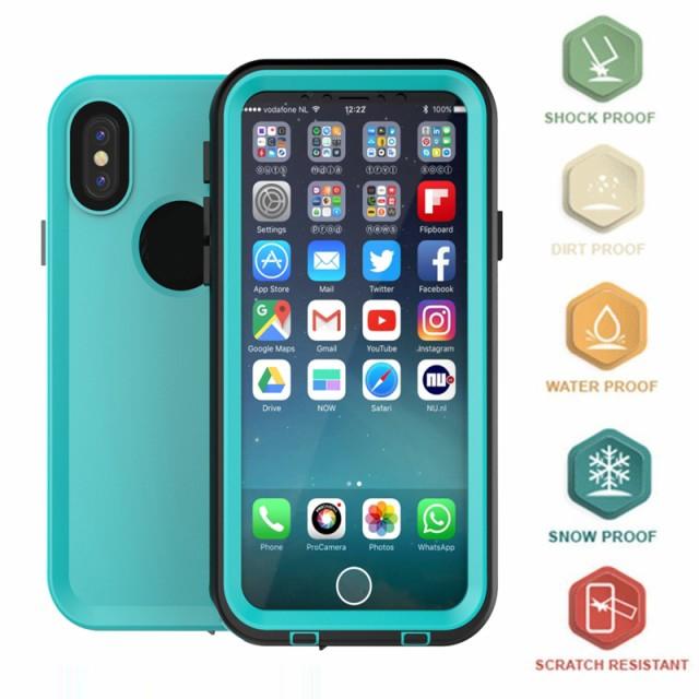 iphone X 完全 防水 ケース IP68防水ケース カバ...