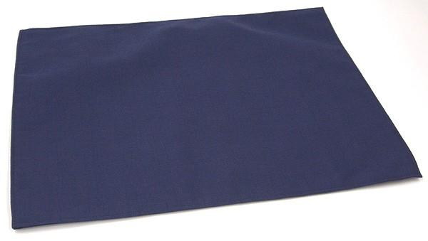 シャンタン紬 紺 布ランチョンマット 約31cm×...