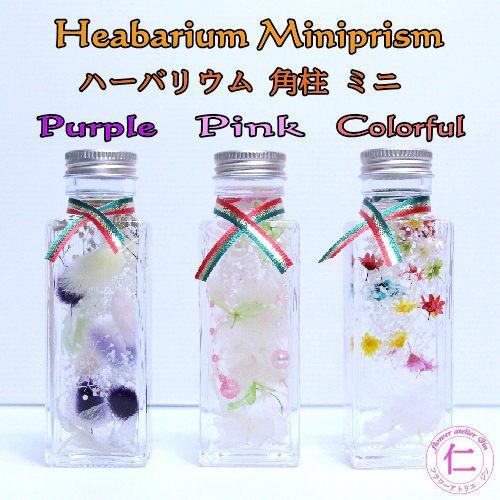 ハーバリウム 誕生日 プレゼント 【Miniprism-3co...