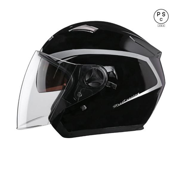 ジェット 男女共用ヘルメット 春 夏 秋 冬 バイク...