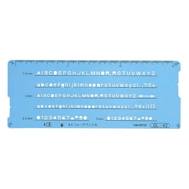 バンコ GL-40型定規 テンプレートGL-42 10542