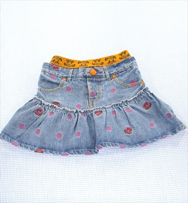 グラグラ GRAND GROUND デニム スカート 120cm 女...