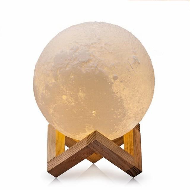 月型LEDナイトライト リアルな3D月面プリント タ...