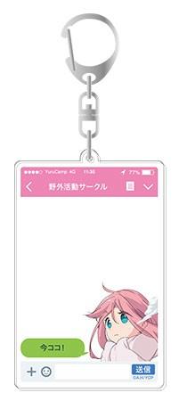送料無料!ゆるキャン△◆アプリ風アクリルキーホ...