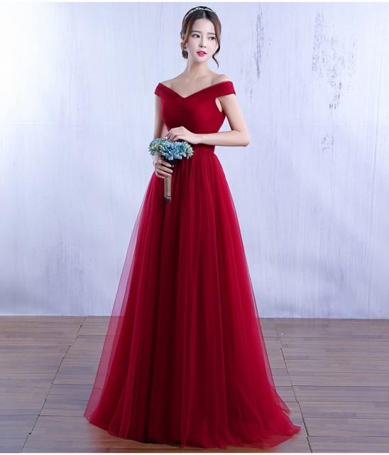 高品質 ロングドレス パーティードレス  舞台ドレ...