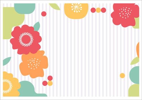 ペーパー・ランチョンマット『Flower Stripe』 1...