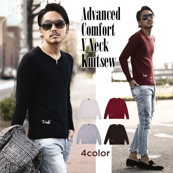 DOWBL/ ダブル/ Advanced Comfort VNeck Knitsew ...