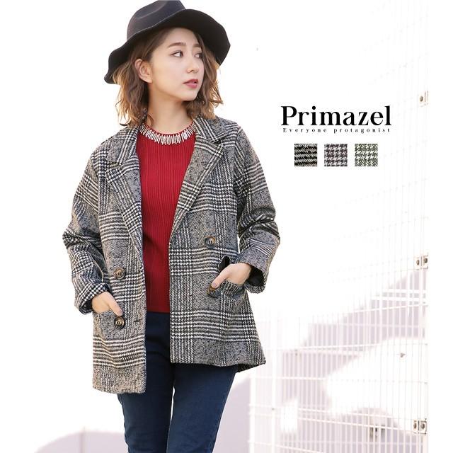 【Primazel/プリマゼル】全3色 ダブル釦オールド...