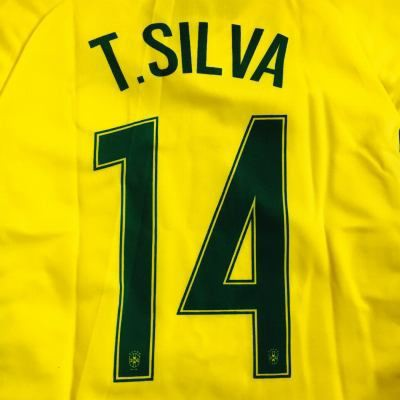 子供用 K012 18 ブラジル T.SILVA*14 チアゴ・シ...