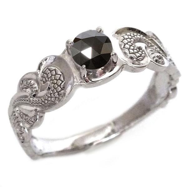 ハワイアンジュエリー 指輪 ホワイトゴールド K18...
