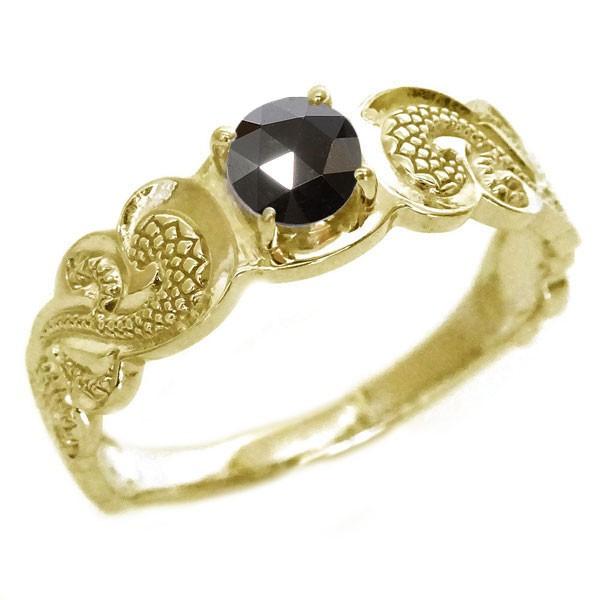 ハワイアンジュエリー 指輪 ゴールド K18 メンズ ...