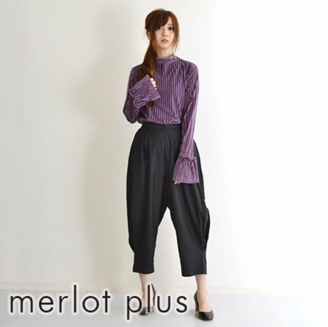 【merlot plus】 キャンディースリーブハイネック...