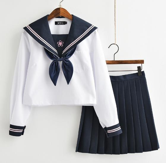 2点送料無料  長袖シャツ+ミニスカート+リボン+...