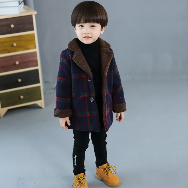 DM韓国子供服 男の子 Fashion ラペル ラムウール ...