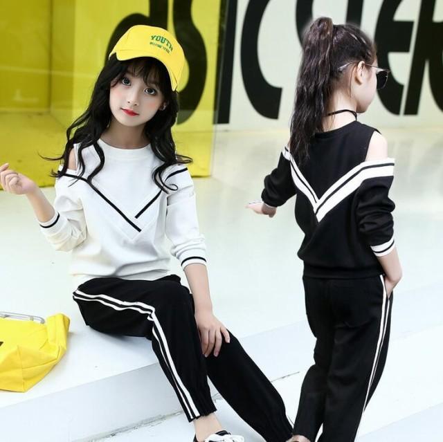 DW 韓国子供服 2点セット 新品 海軍風 学園風 女...