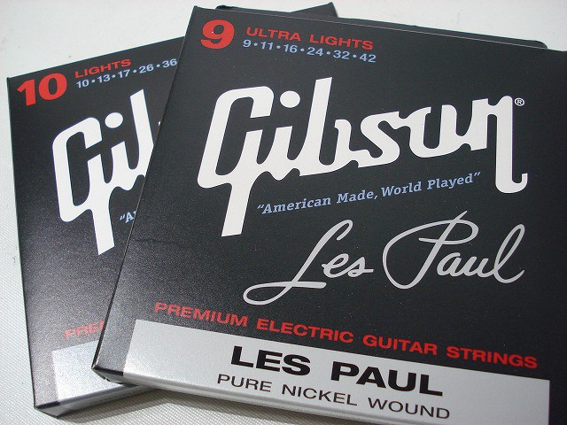 Gibson/エレキ弦 LES PAUL Pure Nickel Wound 【...
