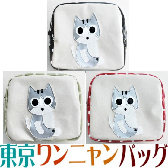 【送料無料】ポーチ 小物入れ 大き目 猫柄 トラ猫...